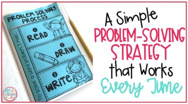 Cover image for problem solving interactive notebook on blue paper for A Simple Problem-Solving Strategy that Works Every Time post