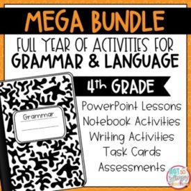 Grammar Fourth Grade Activities Year Long BUNDLE