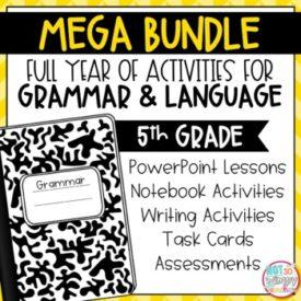 Grammar Fifth Grade Activities - Year Long Bundle