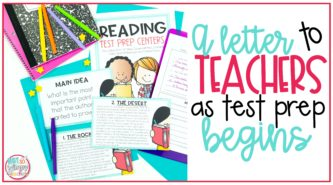 A letter to teachers as testing season begins cover image