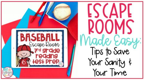 Escape rooms made easy cover image featuring Baseball escape room for reading on iPad