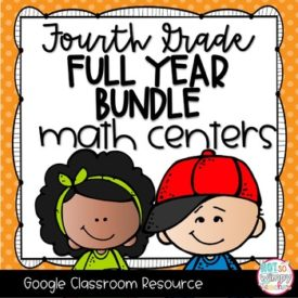 4th Grade Digital Math Centers Bundle