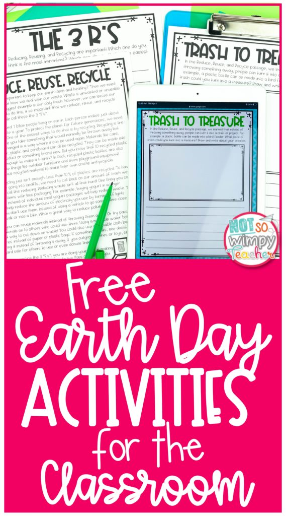 Pin for Free Earth Day Activities for the Classroom