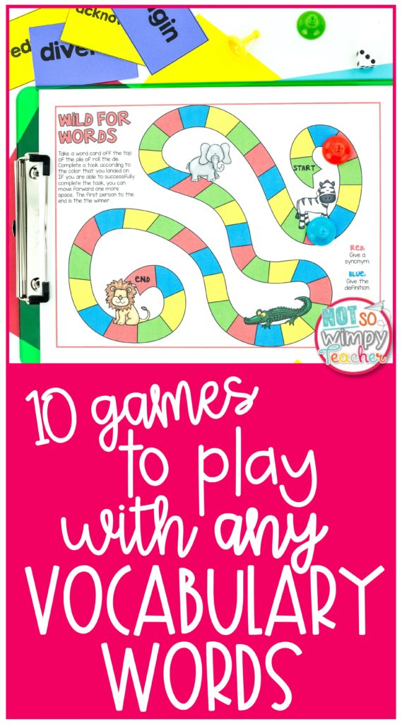 Pin for 10 Games to Play with any vocabulary words