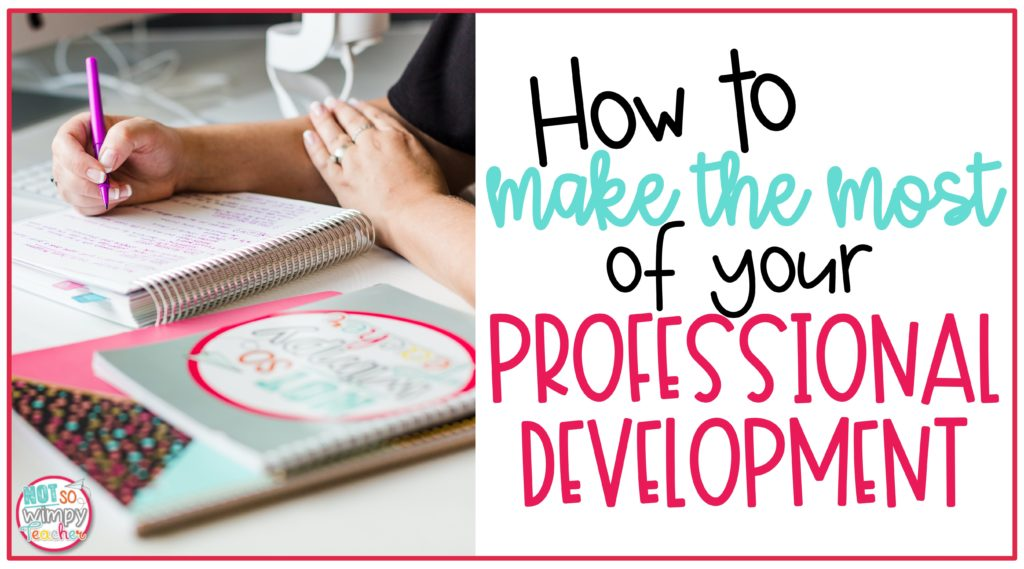 How to make the most of your professional development cover image showing hands with flair pens planning in a calendar