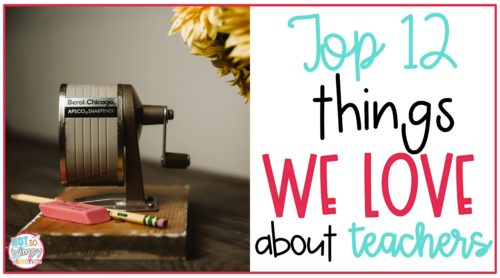 Old fashioned pencil sharpener and pencil for Top 12 Things We Love About Teachers