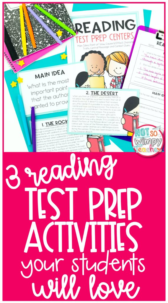 Pin for 3 reading test prep activities your students will love