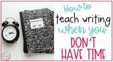 Composition notebooks on cover image of how to teach writing when you don't have time