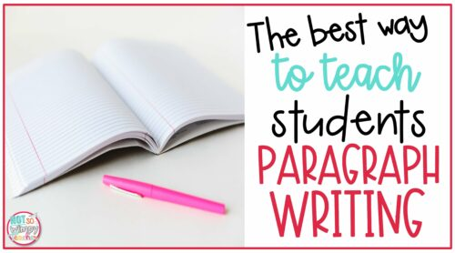 Cover image for The Best Way to Teach Students Paragraph Writing with a blank notebook and pink pen on a table