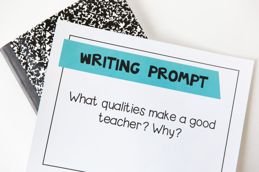 Writing prompt to use during writing workshop