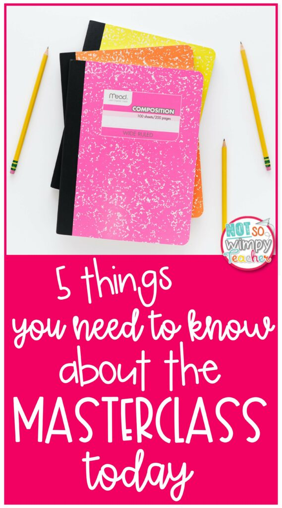 5 Things You Need to Know About the Masterclass today pin
