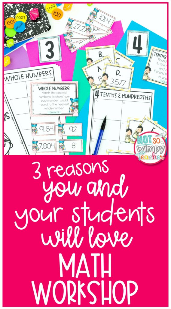 3 Reasons You and Your Students Will Love Math Workshop Pin