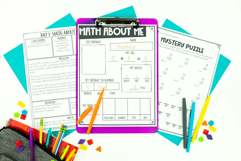 Back to school math activities are perfect for increasing student engagement in math workshop