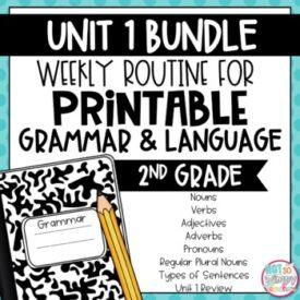 Grammar Second Grade, Unit 1