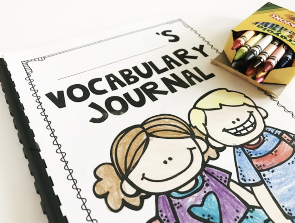 Vocabulary journal with kids on the front is part of the vocabulary units