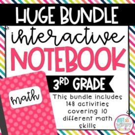 3rd grade math interactie notebook bundle