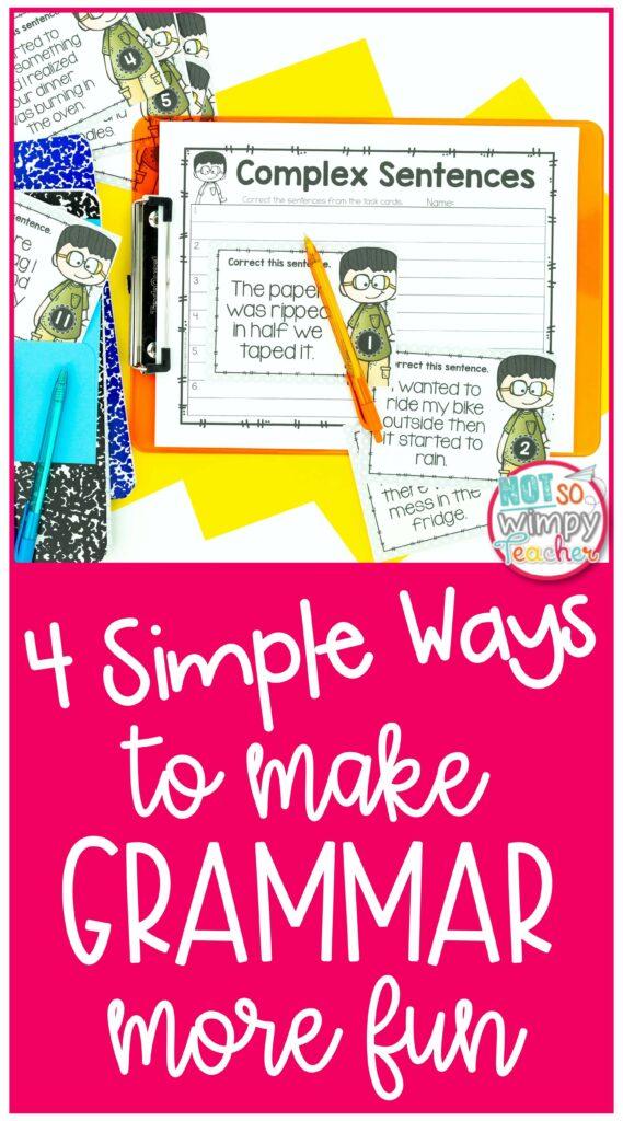 4 Simple Ways to Make grammar more fun pin