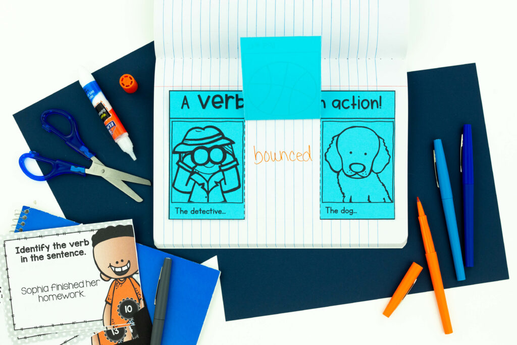 Composition book make a great interactive notebook which is a great way to make grammar more fun