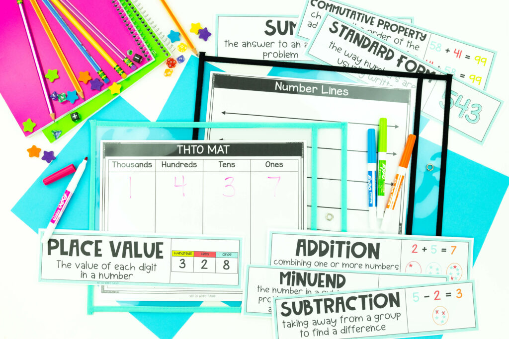 math addition and subtraction unit 3rd grade