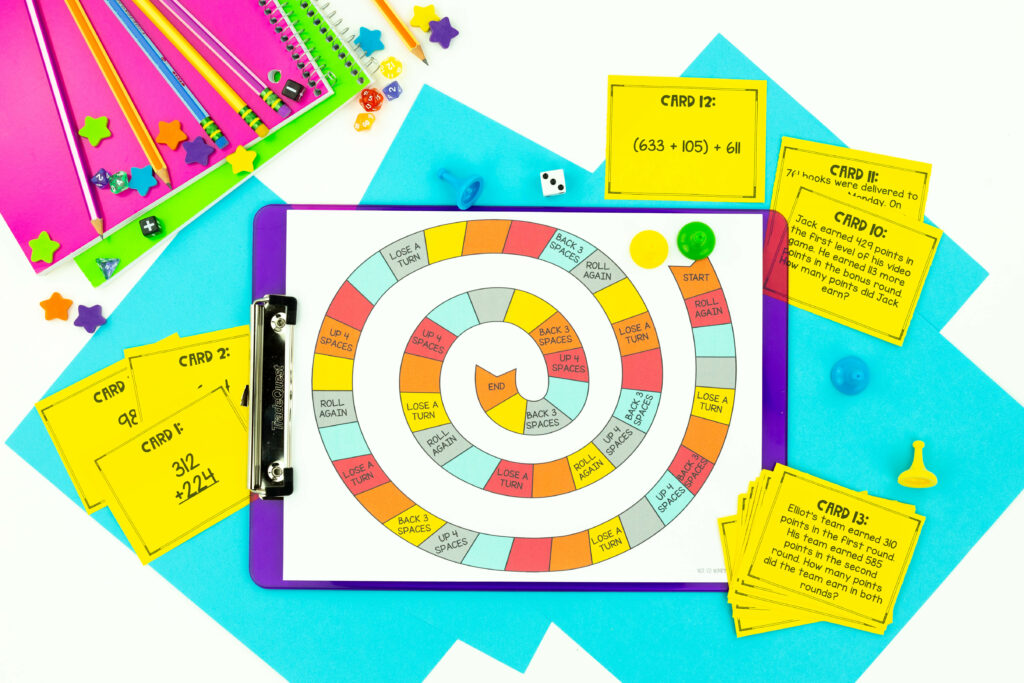 Math Unit 3 addition and subtraction game