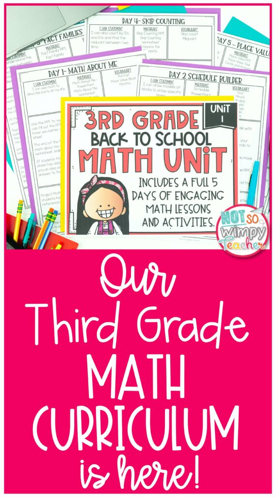 Our Third grade math curriculum is here pin