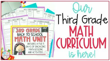 Our Third Grade math curriculum is here cover image showing first page of back to school unit