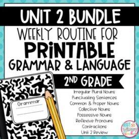 Second grade grammar unit 2
