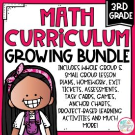 Third Grade Math Growing Bundle