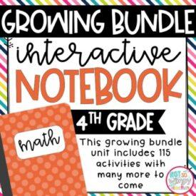 4th Grade INB Growing Bundle