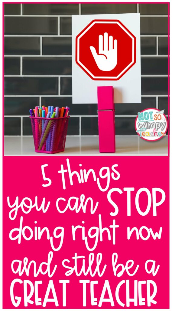 5 Things You Can Stop Doing Right Now Pin