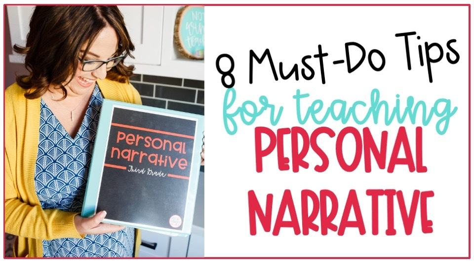 Cover image for 8 must do tips for teaching personal narrative