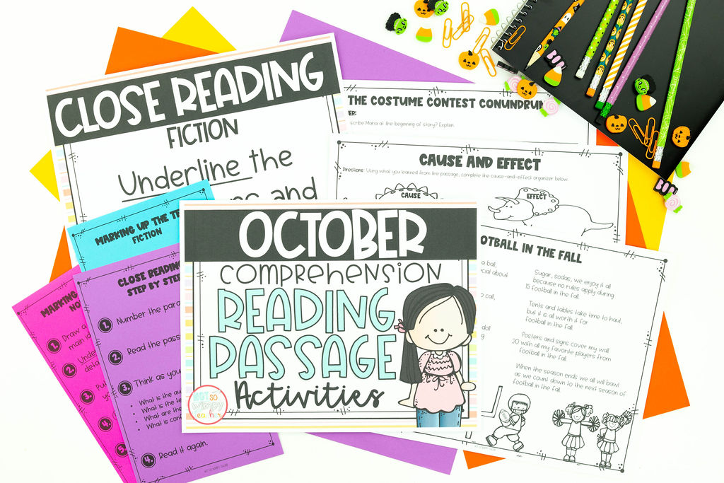 October close reading passages