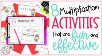 8 Multiplication Activities that are Fun and Effective pin