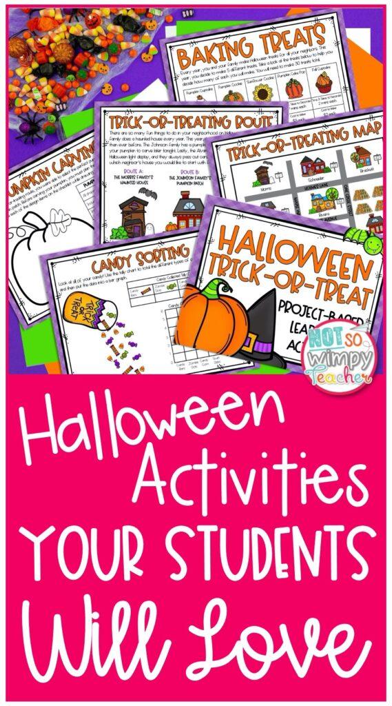 Halloween activities pin